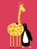 Love Between a Giraffe and a Penguin
