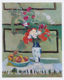 Still Life, Flowers and Fruit Reproduction d'art par Henri Matisse