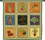 Vintage Veggies Tapestry