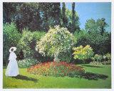 Jeanne Marguerite Lecadre in Her Garden  1866