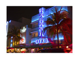 Neon Lights of the Art Deco District   Miami
