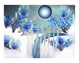 Ice And Snowbloom Landscape