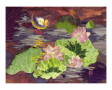 Moonlight in a lotus pond