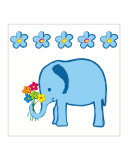 Baby Elephant with Bouquet