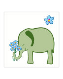 Little Elephant with Bouquet