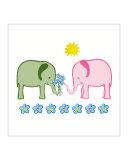 Elephants with Bouquet