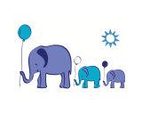 Elephants with Balloons - purple