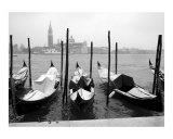 Snow Covered Gondolas Across San Giorgio