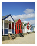 Traditional Beach Huts of Southwold  Suffolk