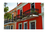 Red Facades of Old San Juan