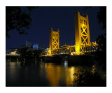 The Tower Bridge of Sacramento at Night  CA