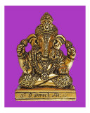Statue of Lord Ganesh on Purple Background