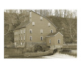 Red Mill as an old photograph