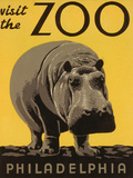 Visite du zoo de Philadelphie  Reproduction d'art