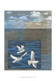 Three White Gulls I