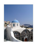 Church in City of Oia  on Satnorini  Greece