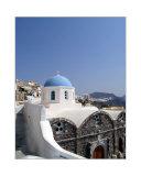 Church in City of Oia  on Satnorini  Greece