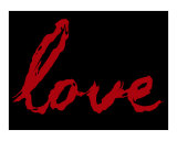 Love Written In Blood (black&red)