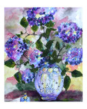 Blue Hydrangeas in Delft Urn