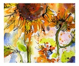 Abstract Modern Sunflower Painting