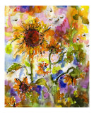 Sunflowers & Bees Provence Abstract