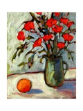 Still Life with Flowers and Orange