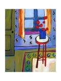 Still Life with Red Stool
