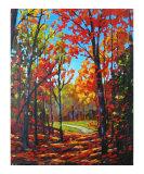 Autumn Path in Old Kinderhook  New York