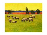 Yellow Sky with Sheep