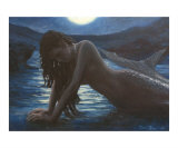 A mermaid in the moonlight