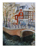 Red House at Amsterdam Canal