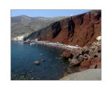 Red Sand Beach in Santorini  Greece