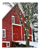 Snowstorm at the Red Barn