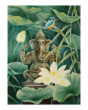 Ganesha with a white Lotus