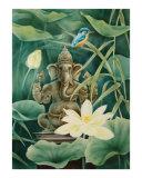 Ganesha with a white Lotus