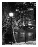 Winter Night View to Plaza - New York