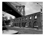 Brooklyn Bridge and Brick Structure - New York