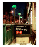 Christopher St Station Greenwich Village-New York
