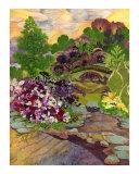 Stone Bridge Garden - Pressed Flower Art