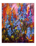 Blue Bells - Impressionist Wildflower Painting