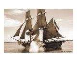 Tall Ship Fires Canon