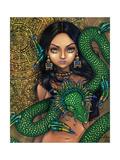 Aztec /Mayan Art:  Priestess of Quetzalcoatl