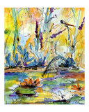 Dragonfly Pond - Lilies &amp; Grasses