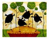 Blackbird Pie Giclée par Debi Hubbs