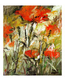 Abstract Expressionist Poppies