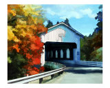 Covered Bridge on a Colorful Autumn Drive