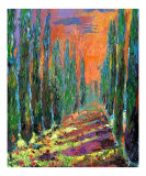 Cypress Tree Path - Italy - Oil Painting
