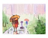 Umbrella Couples - City Skyline