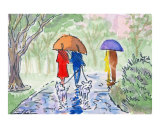 Umbrella Couples - City Park Stroll