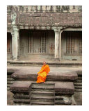 Buddhist Monk at Angkor Wat  Cambodia